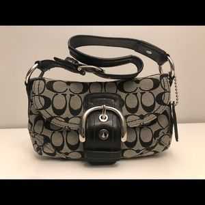 Coach purse - black and grey